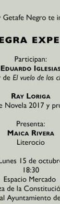 HOY: Coloquio sobre novela negra experimental con Eduardo Iglesias y Ray Loriga